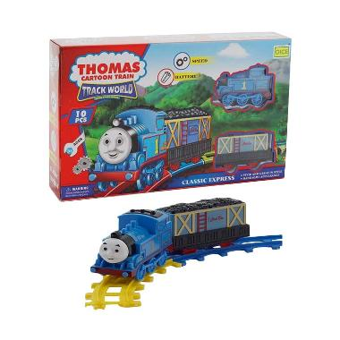 Jual Momo 266B-4 Thomas Cartoon Train Track World Set