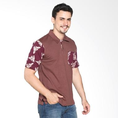 Fafa Collection BOYS 003 Kaos Polo Batik Pria - Coklat Kemerahan