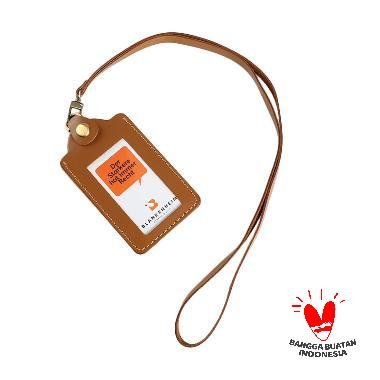 harga BLANKENHEIM Original Leather ID Card Holder - Brown Blibli.com