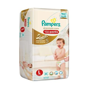 Pampers Popok Celana L-42 Premium Care - Popok Bayi