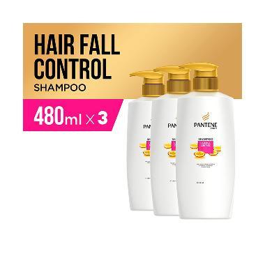 Pantene Hair Fall Control Shampoo [480 mL/3 pcs]