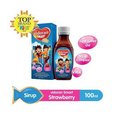 Vidoran Smart Strawberry Syrup Vitamin Anak [100 mL]