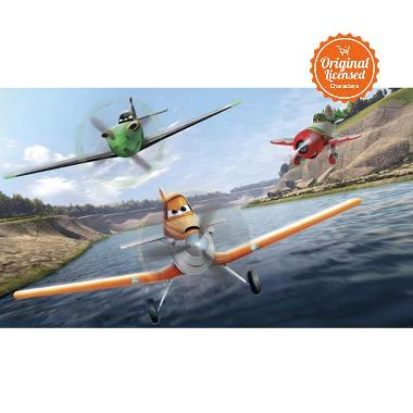 Disney Planes Chair Rail Mural Wallpaper Sticker Dinding