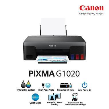 harga Canon Inkjet Printer PIXMA G1020 Single Function Printer (print only) Black Blibli.com