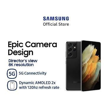 Samsung Galaxy S21 Ultra Smartphone [12 GB/ 128 GB/ SEIN] Black