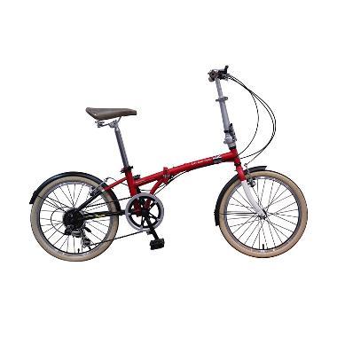 Sepeda Lipat London Taxi - Red Free Ongkir JADETABEK
