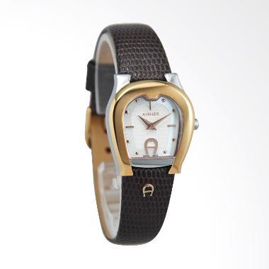 Aigner A24238A Ascoli Leather Jam Tangan Wanita - Dark Brown Rose Gold