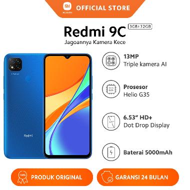 harga Xiaomi Redmi 9C (3GB+32GB) DotDrop 6.53