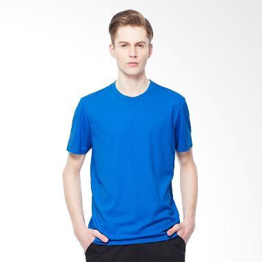 Giordano Solid Crewneck Basic Tee - Victoria Blue