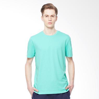 Giordano Solid Crewneck Basic Tee Pool - Blue