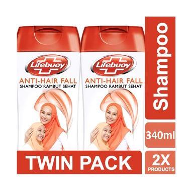 LIFEBUOY Anti Hairfall Shampoo [Twin Pack/ 340 mL]