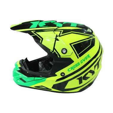 harga Helm Full Face KYT Cross Over Krc Spr Fluo Edt - Yellow Fluo/Green Fluo Blibli.com