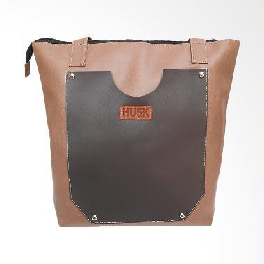 Husk Audrey Tote Bag Casual Simple & Natural Tas Wanita - Coklat