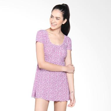 Lasona Baju Renang Rok Wanita - Ungu Muda SWJ-A1286-L01116