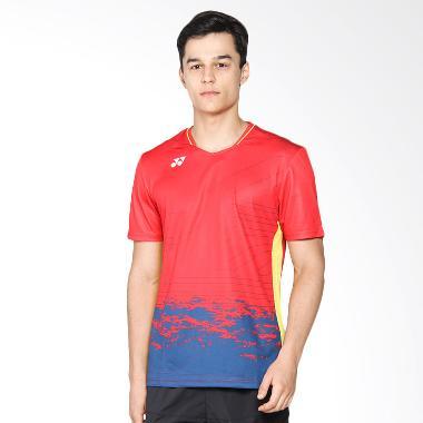Yonex Lee Chong Wei Men V-Neck T-Shirt High Red(TVM10003CWOD-HRRDZZ)
