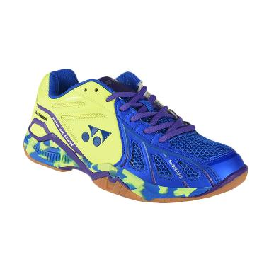 YONEX Men Super Ace Light Sepatu Ba ... Green (SAL-Bluelimegreen)
