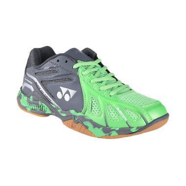 YONEX Men Super Ace Light Sepatu Ba ... rk Grey (SAL-Brightgreen)