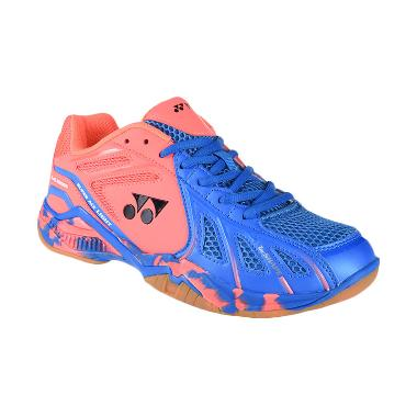 YONEX Men Super Ace Light Sepatu Badminton Pria - Blue Bright Peach