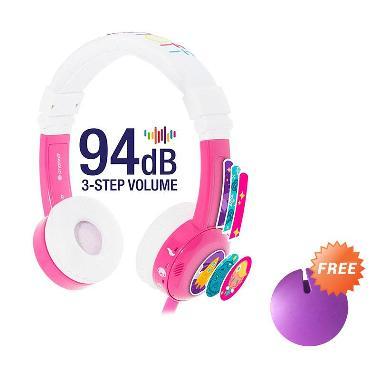 harga Buddyphones in Flight Headphone - Pink + Cable Management Purple Blibli.com