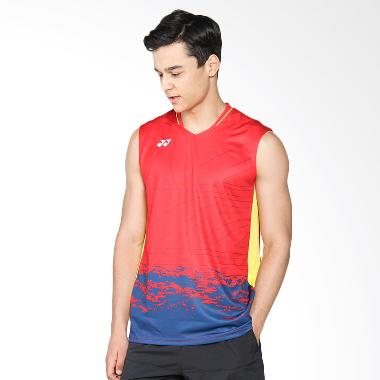 YONEX Lee Chong Wei Men V-Neck Tank ... Red (TVM10003CWEX-HRRDZZ)