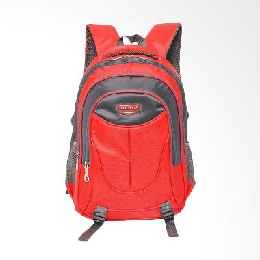 Real Polo 6371 Backpack Daypack - Merah Red