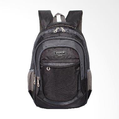 Real Polo Tas Ransel Kasual Daypack Backpack - Hitam 6373 Black