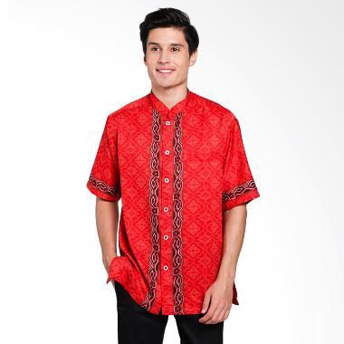 Batik Arjunaweda Men Koko Batik Sen ... ian Pria - Merah 60122047