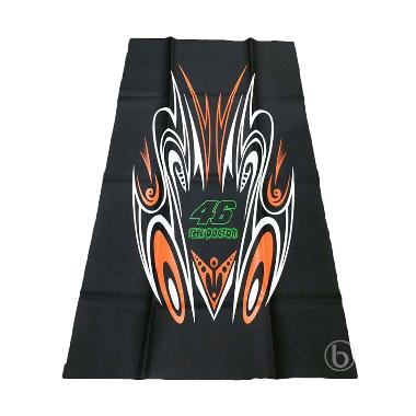 SJHOP Sablon Tribal 46 The Doctor V ...  Jok Motor - Hitam Orange