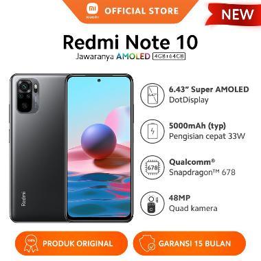harga Xiaomi Redmi Note 10 (4GB+64GB) Super AMOLED 6.43