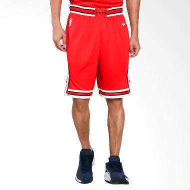 NIKE Men Basketball Chicago Bulls Swingmen Short Road Celana Basket Pria [866789-657]