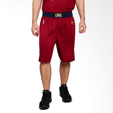 NIKE Men Basketball Cleveland Cavaliers Swingmen Short Road Celana Basket Pria [866793-677]