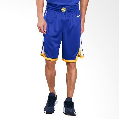 Nike Men Basketball Golden State Warriors Swingmen Short Road Celana Basket Pria [866809-495]
