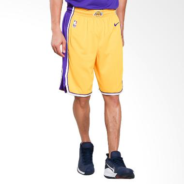 NIKE Men Basketball Los Angeles Lakers Swingmen Short Home Celana Basket Pria [866823-728]