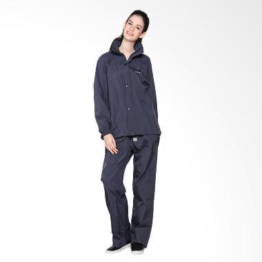 Zoleka Rainsuit Aquarest Stripes Jas Hujan Setelan Wanita - Navy