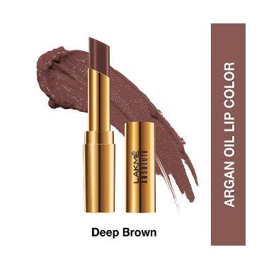 Lakme Absolute Reinvent Argan Oil Lipstick - 12 Deep Brown