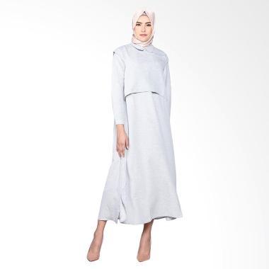 Dauky L Renata Dress Muslim - Grey
