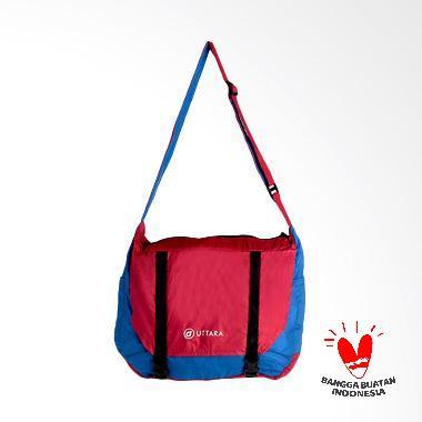 Uttara Indonesia Messenger Bag Tas Selempang - Blue Doff Red
