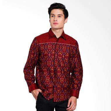 Batik Arjunaweda Men Songket Denim  ... ia - Merah Tua [58170087]