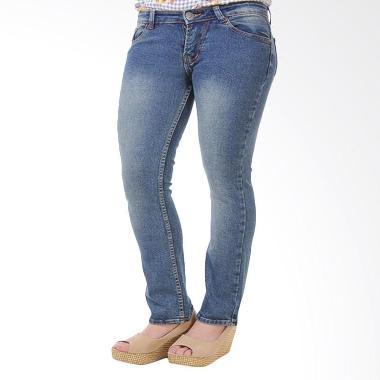 JSK Jeans JSK9134 Cutbray stretch p ... Jeans Wanita - Green Blue