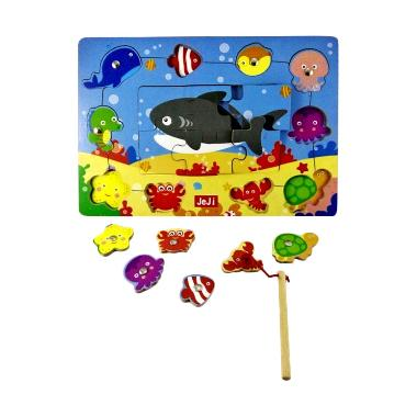 JeJi Magnetic Fishing and Puzzle Mainan Anak