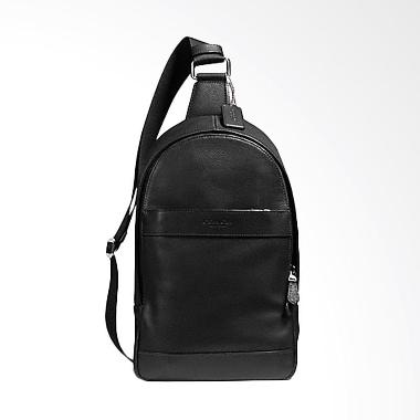 Coach Men Charles Leather Tas Selempangan Pria - Black