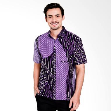 Seruni Batik Aaron Men Shirts Kemeja Pria - Purple [BTKM 17-11-01]