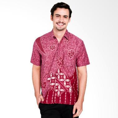 Seruni Batik Albin Men Shirts Kemeja Pria - Purple [BTKM 17-11-12]