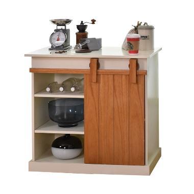 Livien Furniture Celine Slide Cabinet Lemari Dapur Ivory