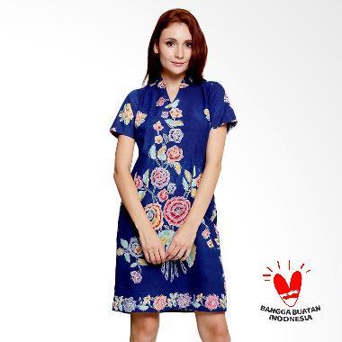Benangsari Kasmaran Dress Batik Wanita - Biru