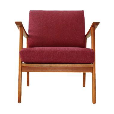 Olafur Jolene Chair Kursi - Carmine Red