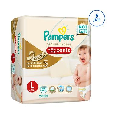 Jual Pampers Popok Celana L 6x24 Premium Care - Popok Bayi Terbaru - Harga Promo Desember 2018   Blibli.com