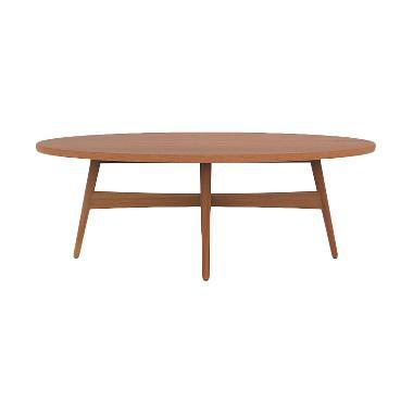 Olafur Maggie Oval Coffee Table Meja Kopi- Brown