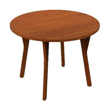 Olafur Joan Round Dining Table Meja Makan- Brown
