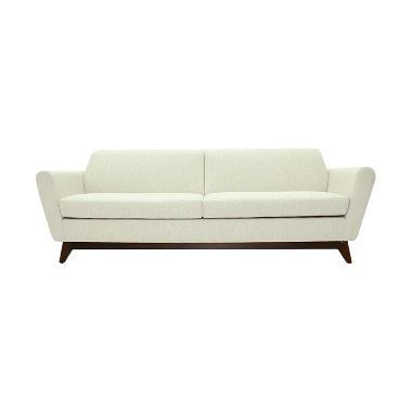 Olafur Frankie Three Seater Sofa – White Chocolate